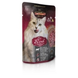 Leonardo Cat Finest Selection Pure Beef паучи для кошек с говядиной